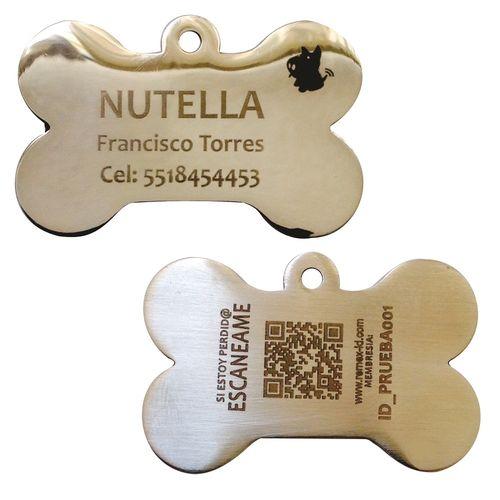 Placa ID QR Metal Espejo