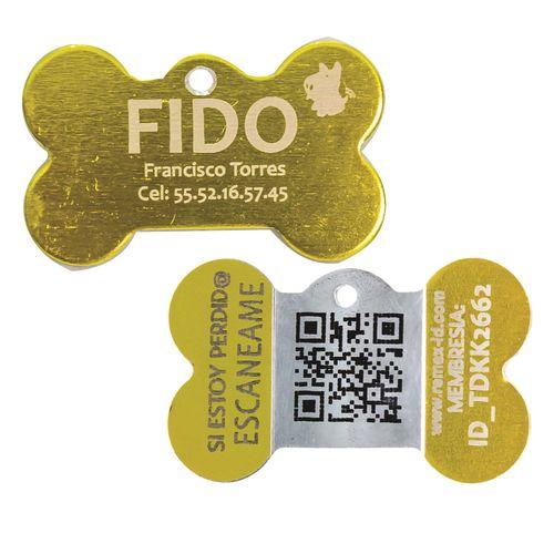Placa ID QR Metal Amarillo