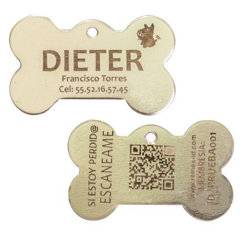 Placa ID QR Metal Plata